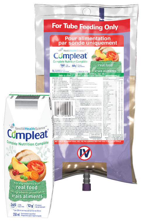 COMPLEAT® tube feeding formulas real food ingredients