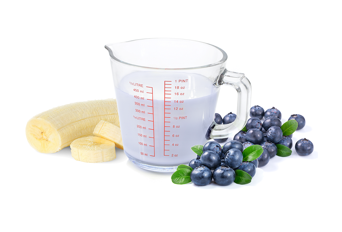 Compleat banana-blueberry-oatmeal recipe
